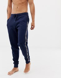 Tommy Hilfiger Authentic Cuffed Sweatpants Side Logo Taping In Navy Navy