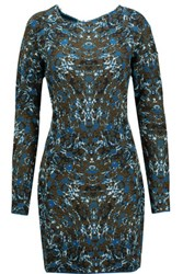 M Missoni Asymmetric Jacquard Knit Cotton Blend Mini Dress Multi
