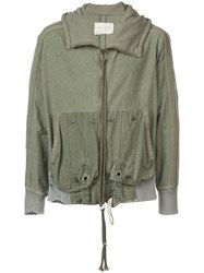 Greg Lauren Hooded Jacket Green
