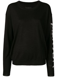 Zadig And Voltaire Round Neck Sweater Black