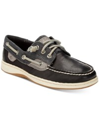 Sperry Ivy Fish Boat Shoes Women's Shoes Black