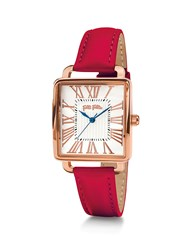 Folli Follie Retro Square Red Watch Red