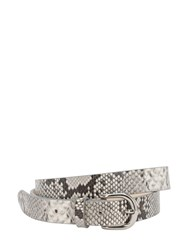 Isabel Marant 25Mm Zap Python Printed Leather Belt Chalk