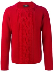 Ports 1961 Cable Knit Sweater Red