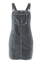 Topshop Petite Velvet Pini Dress Grey