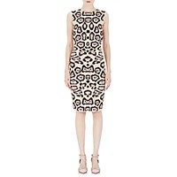 Givenchy Women's Leopard Compact Knit Sheath Dress Pink