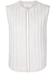 Brunello Cucinelli Sleeveless Quilted Jacket White