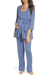 Belabumbum Maternity Nursing Robe And Pajamas Chambray