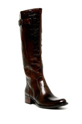 Born Roxie Knee High Leather Wide Calf Boot Brown