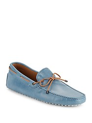 Tod's Lace Tie Moccasins Grey