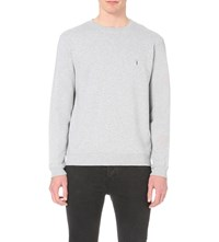 Allsaints Wilde Cotton Jersey Sweatshirt Grey Marl