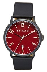 Ted Baker Men's London Round Leather Strap Watch 42Mm