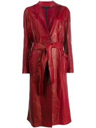 Isaac Sellam Experience Longline Jacket Red