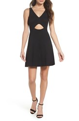 Ali And Jay Alfresco At Geoffrey's Cutout Minidress Black