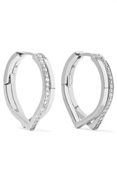 Repossi Antifer 18 Karat White Gold Diamond Earrings One Size