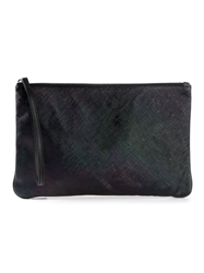 Ab A Brand Apart Patterned Clutch Black