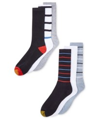 Gold Toe Men's Premier Striped Athletic Socks 6 Pack Assorted