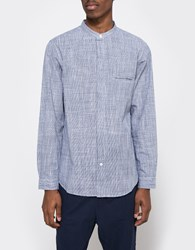 Shades Of Grey Band Collar Bd Shirt Navy