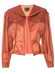 Jean Paul Gaultier Vintage Fitted Jacket Yellow And Orange