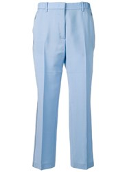 N 21 No21 Tailored Sequin Trimmed Trousers Blue