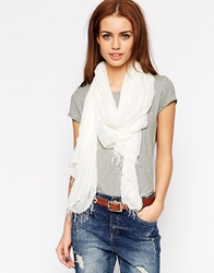 7 For All Mankind Scarf White
