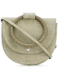 Theory Round Handle Shoulder Bag Green