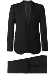 Emporio Armani Tailored Patterned Suit Black