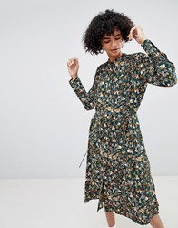 Weekday Retro Print Shirt Dress Retro Floral Small Multi