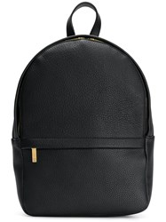 Thom Browne Small Unstructured Backpack In Tumbled Calf Leather Black