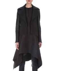 Akris Stamped Napa Leather Tailcoat Black