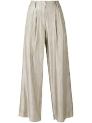 Forte Forte Striped Palazzo Pants Nude Neutrals
