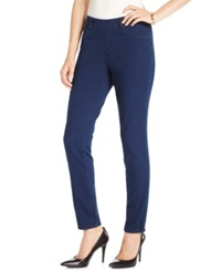 Charter Club Petite Pull On Skinny Jeggings Southampton Wash