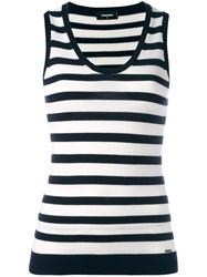 Dsquared2 Striped Tank Top Blue