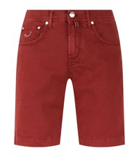 Jacob Cohen Solid Colour Shorts Male Red