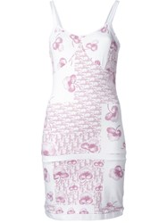 Christian Dior Vintage Fitted Jersey Cami Dress White