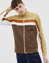 Pretty Green Track Top In Brown