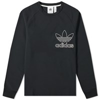 Adidas Outline Crew Sweat Black