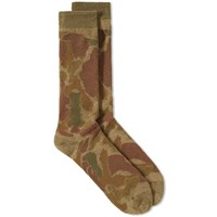 Anonymous Ism Camo Pile Crew Sock Green