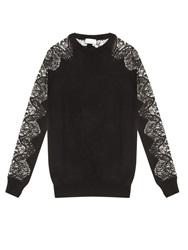 Raey Lace Sleeves Cashmere Sweater