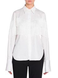 Stella Mccartney Alina Fringe Shirt Optical White