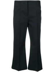 Dorothee Schumacher Cropped Trousers Blue