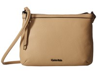 Calvin Klein Carrie Pebble Key Item Crossbody Nude Cross Body Handbags Beige