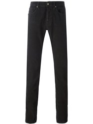 Incotex Textured Trousers Brown