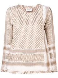 Cecilie Copenhagen Straight Fit Blouse Nude And Neutrals