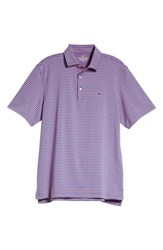 Vineyard Vines Kennedy Stripe Golf Polo Marlin