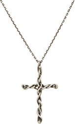 Dean Harris Sterling Silver Cross Pendant And Cable Chain