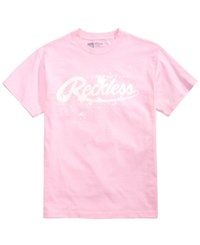 Young And Reckless Men's Drip Logo T Shirt Pink