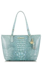 Brahmin 'Medium Asher' Leather Tote Blue Astral