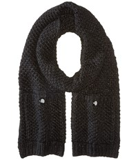 Michael Michael Kors Tuck Stitch Muffler Derby Scarves Black
