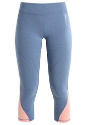Roxy Imanee 3 4 Sports Trousers Captains Blue Heather Light Blue